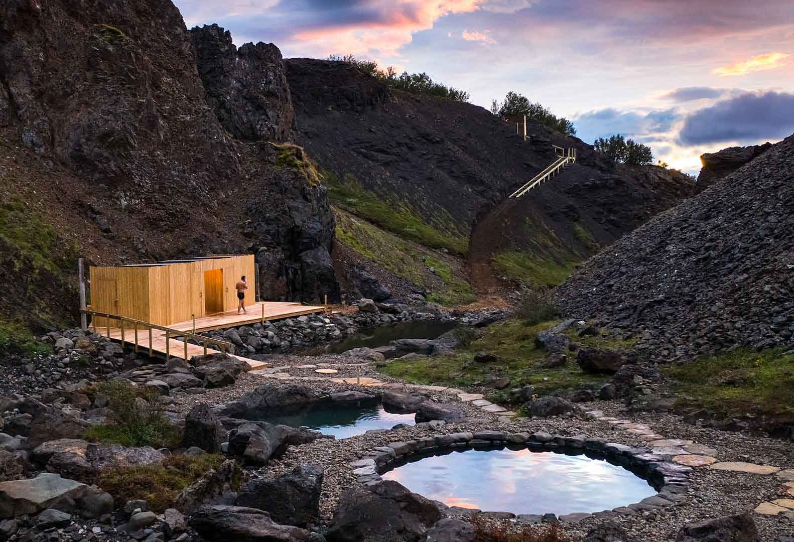 Husafell Canyon Baths, Iceland