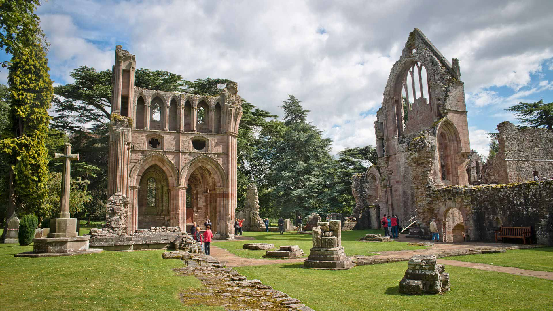 Dryburgh Abbey in Scottish Borders, Scotland