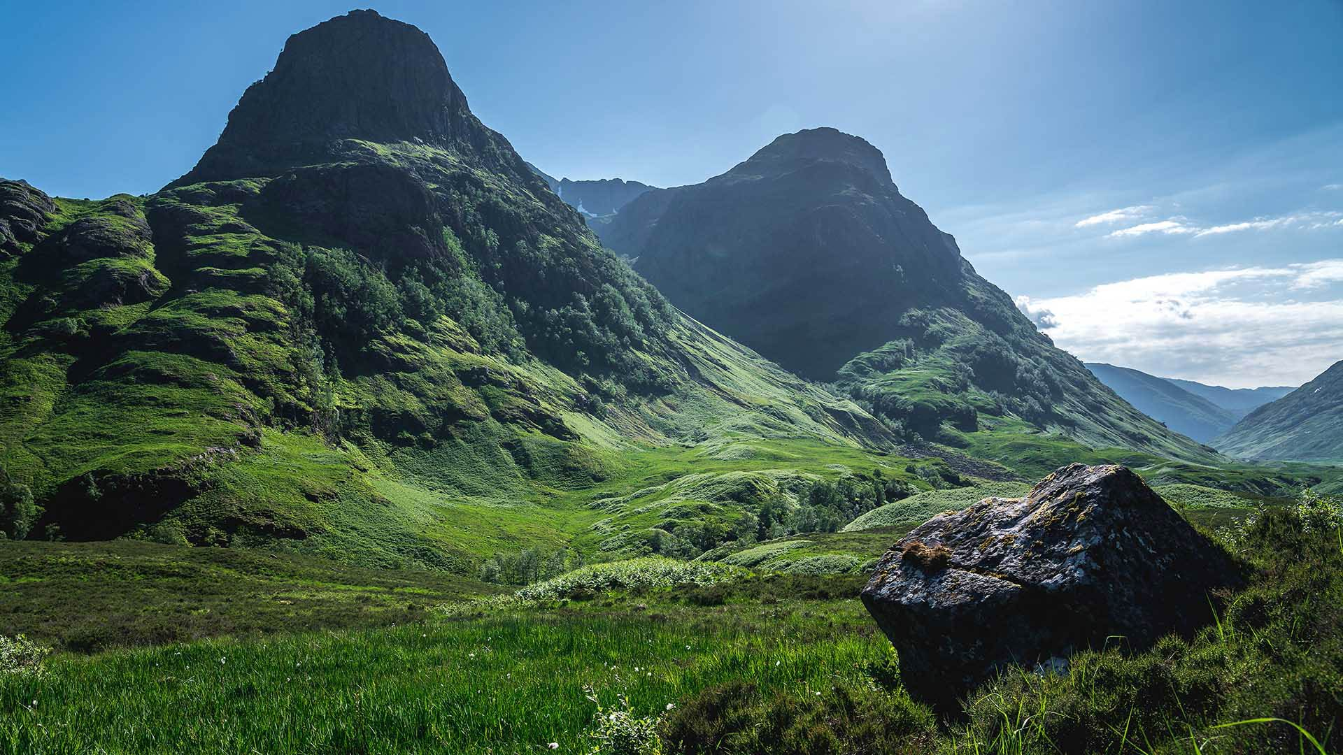 mountains in glen coe