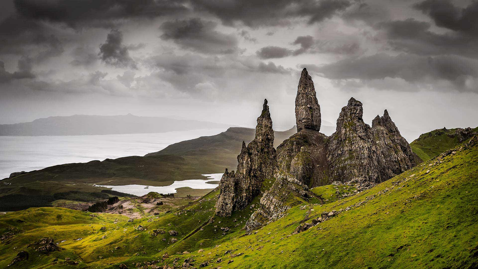 old man of storr rock formation