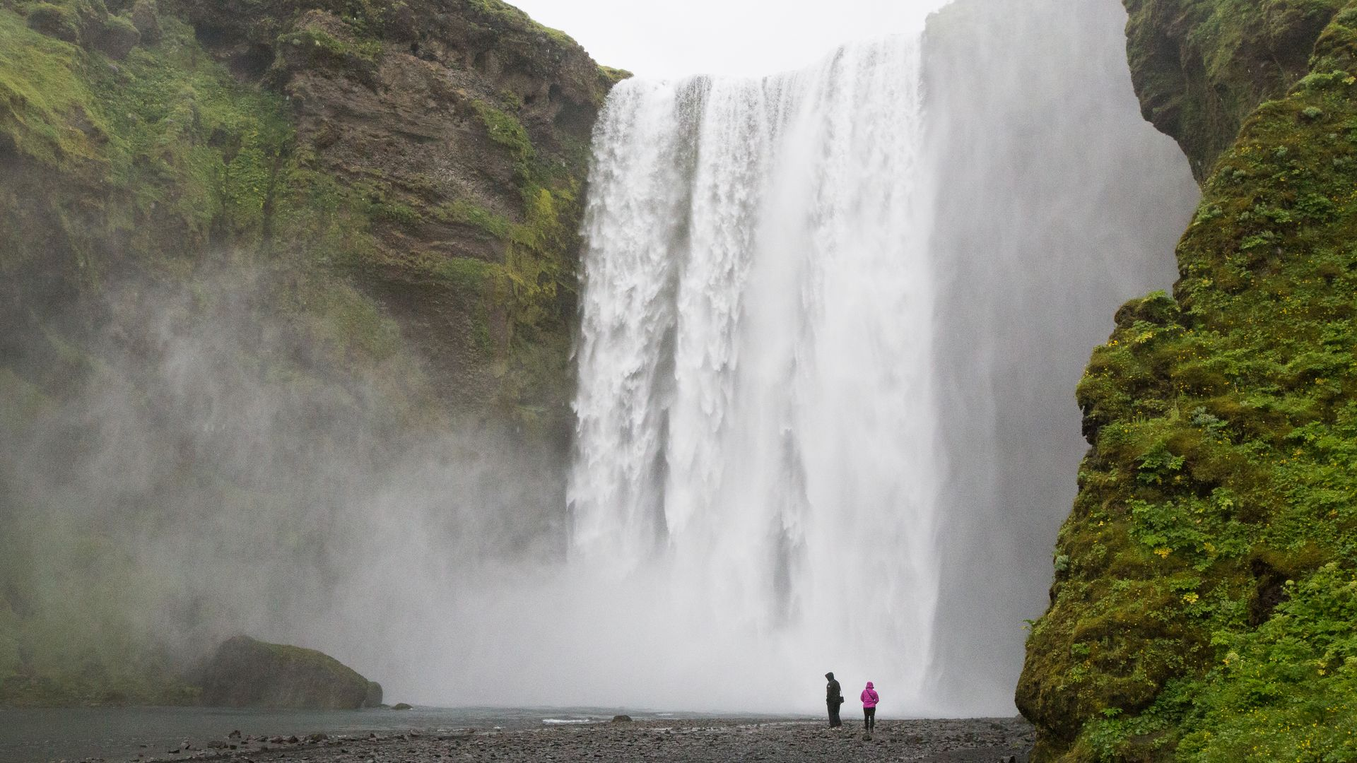 The beautiful Skógafoss waterfall in South Iceland
