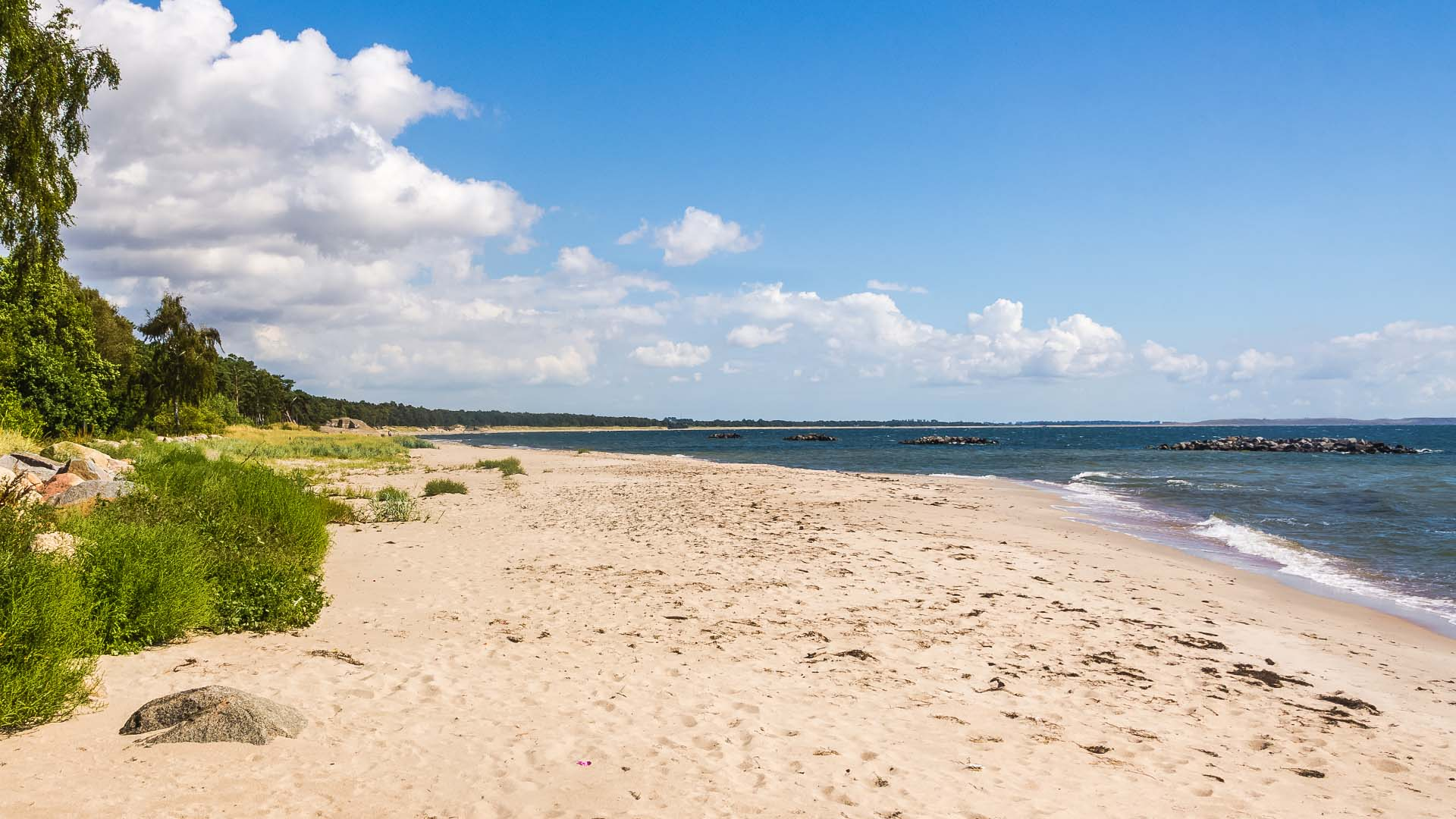 Sandhammaren beach in Skane, Sweden